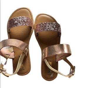 NWOT Rampage Glitter Pink Sandals sz 6 ✨